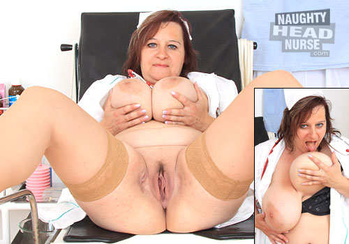 nhn vid olena blogs How To Nurse Sick Boy Russian Porn   Brunette nurse Olena checks her tits and snatch in white uniforms